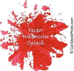 Watercolor red splash