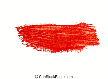 Watercolor red stroke isolated.