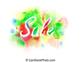 Watercolor Sale sign
