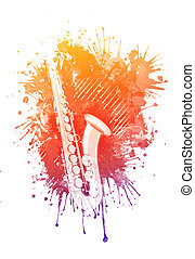 Watercolor Saxophone
