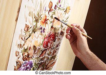 watercolor, schilder