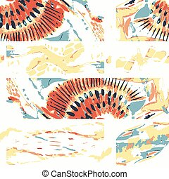 Watercolor seamless vector patchwork pattern.