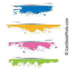 Watercolor set - Vector illustration of Watercolor set