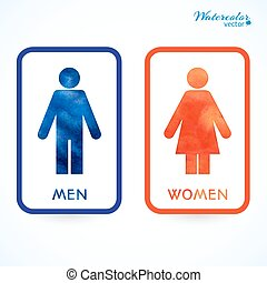signs - toilet, changing room, male, female, wc