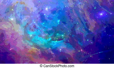 Watercolor space background - Space background with colorful...