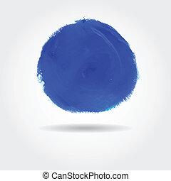 Watercolor speech bubble. Vector illustration.