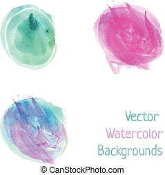 Watercolor splash spots