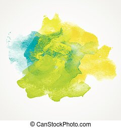 Watercolor Splash with gradient effect. Bright colorful...