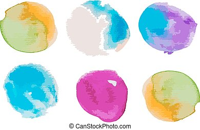 Watercolor splashes set for your design