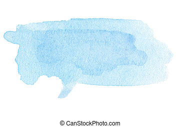 Watercolor spot - Sky blue watercolor abstract background....
