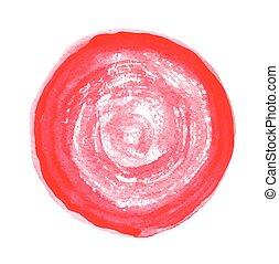 Watercolor spot, vector illustration. - Watercolor red spot...