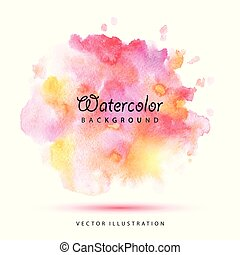 Watercolor stains vector illustration