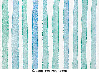 Watercolor striped textured background blue cyan color