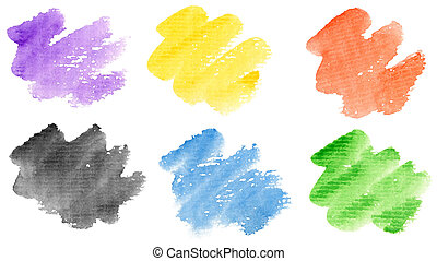 Watercolor strokes - Watercolor hand painted brush strokes...