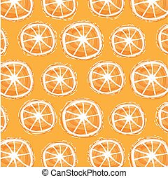 watercolor summer background with orange slices