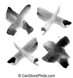 Watercolor texture isolated on a white background.