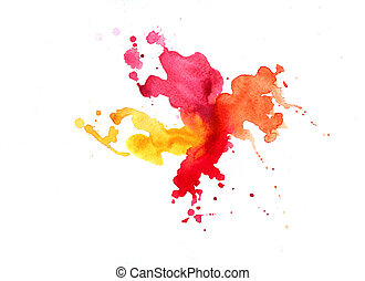 Watercolor texture of stains - Watercolor texture with...