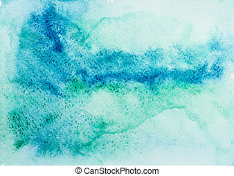 Watercolor texture - Texture from blue and green watercolor...