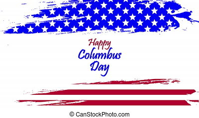 watercolor usa flag for columbus day