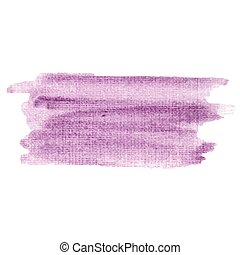 Watercolor vector hand paint texture, abstract isolated on white background