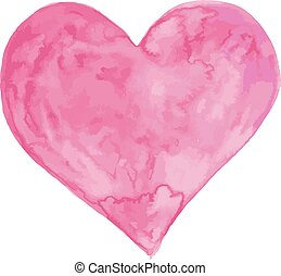Watercolor vector heart art