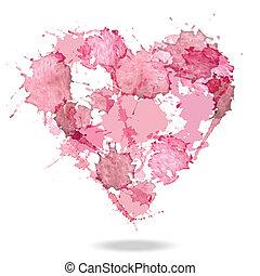 Watercolor vector heart