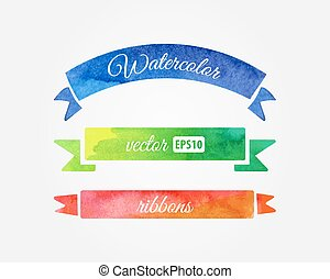 watercolor, vector, linten