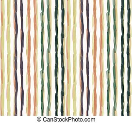 Watercolor vector stripe background. Vertical masculine shirt line seamless pattern. Hand painted wonky striped streak on white backdrop. Preppy modern creative art graphic. Man fashion all over print