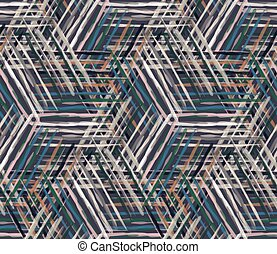 Watercolor vector woven background. Criss Cross masculine shirt line seamless pattern. Hand painted wonky criss crossstreak color backdrop. Preppy creative art graphic. Man fashion all over print