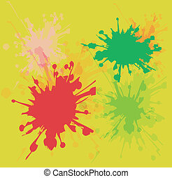 watercolor verf, gespetter