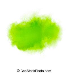 watercolor, vlek, handdrawn, groene, colorfull, abstract, illustratie