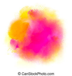 watercolor, vlek, handdrawn, roze, colorfull, abstract, illustratie