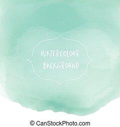 watercolor wash background - Pastel green watercolor wash...