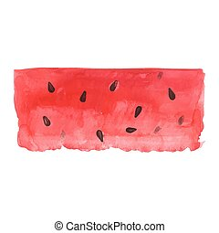 Watercolor watermelon background.