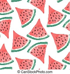 watercolor watermelon background