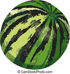 watercolor Watermelon isolated on a white background. hand drawn