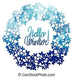 Watercolor  winter floral wreath