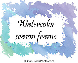 Watercolor winter frame