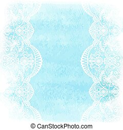 watercolor with white lace