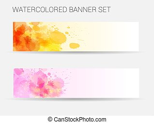 Watercolored banner template
