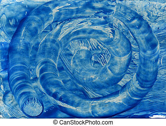 watercolors abstract blue background in the manner of spirals