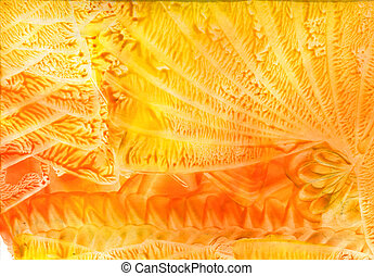 watercolors abstract yellow background