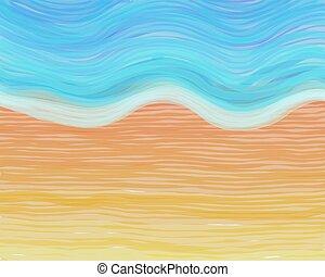 watercolour beach - digital watercolour paint beach sand and...