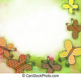 Watercolour Butterfly Background