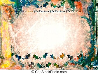 Watercolour Christmas Holly Paper