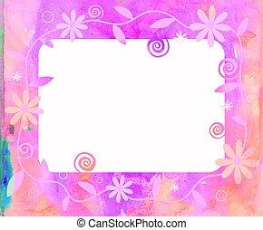 Watercolour Floral Frame.
