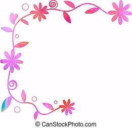 Watercolour Floral Page Decoration
