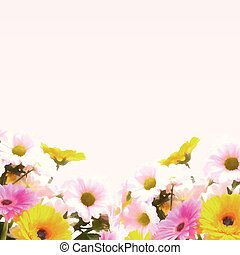 watercolour flowers background 0705 - Painted floral...
