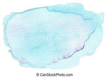 watercolour, hand, geverfde, inkt plek, textured, achtergrond., hoog, resolutie
