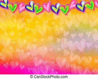 Watercolour Love Heart Background